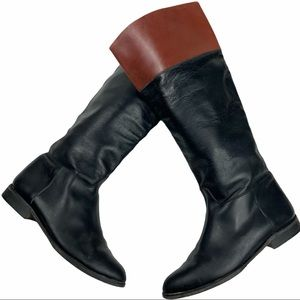 VINTAGE Made In Italy Leather riding boots. SZ 7